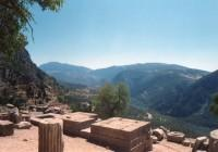 Delphi Panoramic View Down to Pleistos River Gorge