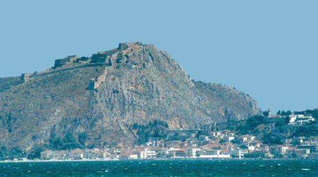 Nafplion Palamidi Fortress at the top of the mountain
